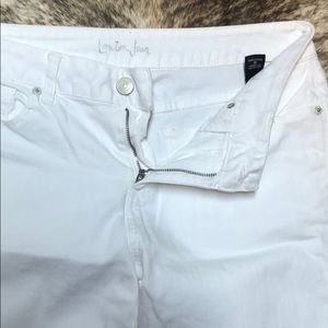 LONDONJEAN Pants - London jeans. Size 10 white flare legs, tall.